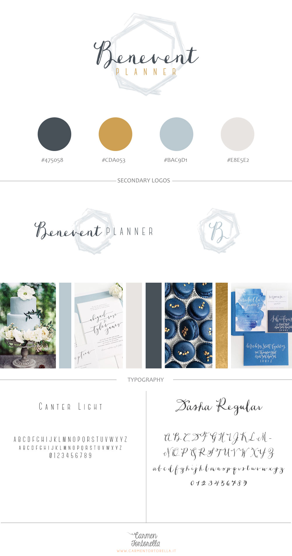 Benevent Planner brand-board